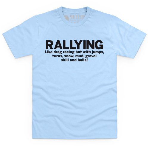 Rallying T-Shirt, Herren Himmelblau