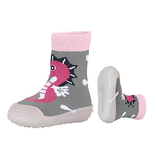 Sterntaler Mädchen Adventure-Socks Seepferdchen Aqua Schuhe, Grau (Silber Mel. 542), 23/24 EU