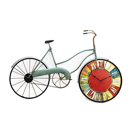 COCO American Style Retro Wohnzimmer Schlafzimmer Kreative Fahrrad Wanduhr Wanddekoration...