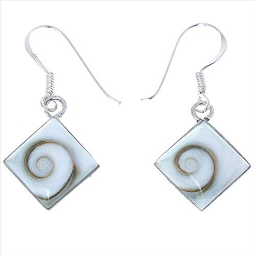 Chic-Net Shiva Eye orecchini d'argento 12 millimetri orecchini di diamanti argento 925 monili delle donne Shiva Eye Eye