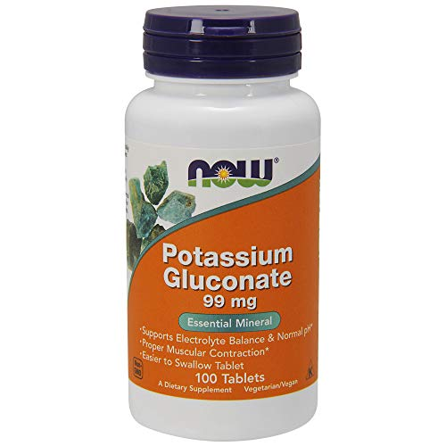 Now Foods Potassium Gluconate 99mg, Tablets, 100-Count - 100 Ct-tab