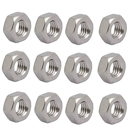 1 Left-hand Thread (ZCHXD 12pcs M6 x 1mm Pitch Metric Thread 304 Stainless Steel Left Hand Hex Nuts)