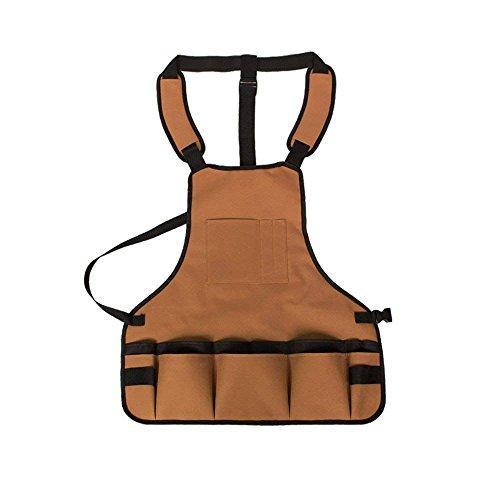 Kastilien Seife-paket (Xigeapg Professional Arbeit Schuerze mit Taschen Durable Waterproof Einstellbare Werkzeug Schuerze Gartenarbeit Woodshop Schuerzen mit Taschen fuer Maenner Frauen Tischler Maschinisten)