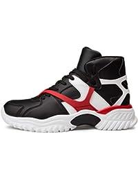 ade61255804959 Qianliuk Männer Turnschuhe Jungen Basketball-Schuhe Atmungsaktiv High Top  Anti Skid Air Cushion Ankle Boots