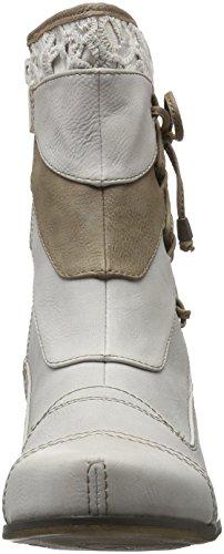 Mustang Damen 1187-510 Combat Boots Elfenbein (203 Ice)