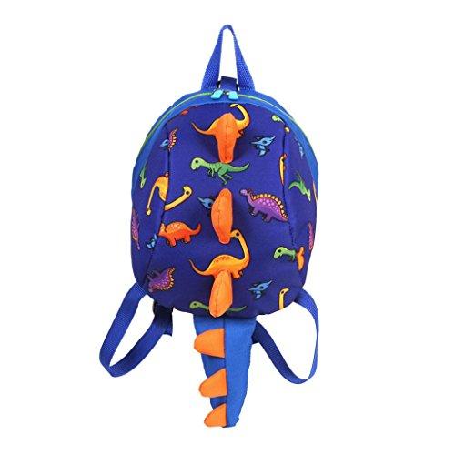 Winkey Baby Mädchen Jungen Rucksack, Kinder Kleinkind Cartoon Dinosaurier Tier Schule Tasche, Schultertasche Dark Blue 20x12x26cm 20cm(L)*12cm(W)*26cm(H)/7.8(L)*4.7(W)*10.2(H)