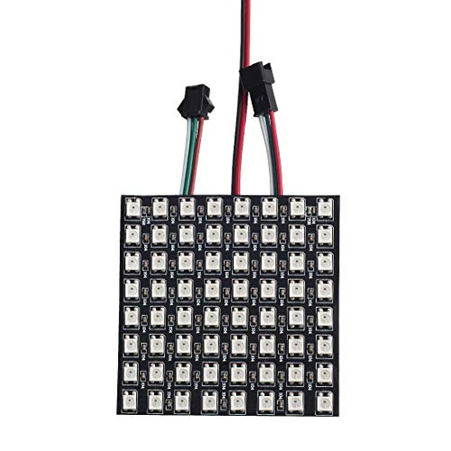 BTF-LIGHTING 0.24ft0.24ft Pixel 64 Pixels WS2812B LED Programmed Panel Screen Digital Flexible Individually Addressable DC5V Component Video Wall Plate