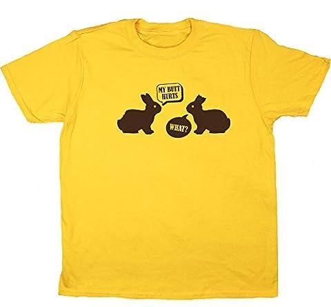 HippoWarehouse - T-shirt - Fille 6 ans - jaune - 4 ans