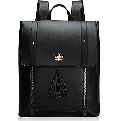 """Estarer Sac à dos Femme Cuir Cartable Sac porté dos à Main Scolaire Fille Backpack pour Ordinateur Portable 15.6"""""""