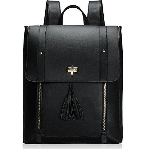 f17835cf9e Estarer Sac à dos Femme Cuir Cartable Sac porté dos à Main Scolaire Fille  Backpack pour Ordinateur Portable 15.6