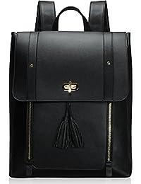 Estarer Women Laptop Rucksack PU Leather Satchel Backpack 15.6 inch Large School Bag for Girls