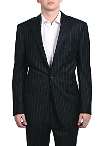 Versace Collection Men's Pinstripe Two-Piece Wool Suit Navy Blue Light