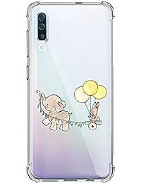 Oihxse Silicona Funda con iPhone 11 Pro MAX TPU Flexible Suave Transparente Protector Estuche Airbag Esquinas Reforzadas Ultra-Delgado Elefante Patrón Anti-Choque Caso (C1)