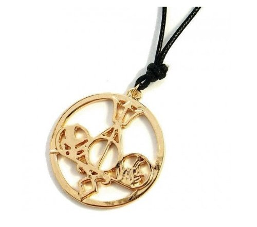 vie Pendant Necklace Mix the Mortal Instruments /Hunger Games Divergent/ Percy Jackson/ Harry Potter for Collection ALL-IN-ONE GOLD NECKLACE (The Hunger Games Kostüm)