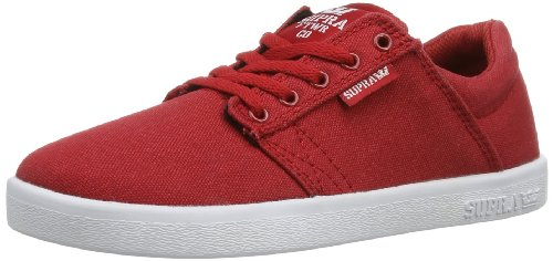 Supra Kids Westway, Sneaker Unisex – Bambini Rosso (Rot (RED - WHITE RDW))