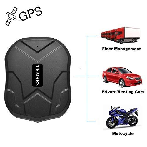 GPS-Tracker, Hangang wasserdichtes Tracker-Suchgerät mit leistungsstarkem Magnet 90 Tage Lange Standby-GPS-Position für Cars Live-Tracking/genaue Positionierung/Anti-Thief
