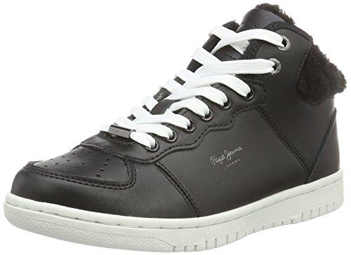 Pepe Jeans Damen Lindsay Fur High-Top Schwarz (Black 999)