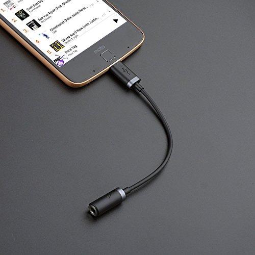 Preisvergleich Produktbild Cabling Typ C auf Audio von 3,5mm Kopfhörer Stereo Adapter Anschluss USB C auf Micro Adapter weiblich Audio 3,5mm für Moto Z DROID, XPS13cdla, Kopfhörer und andere Geräte Typ C Port (schwarz)...