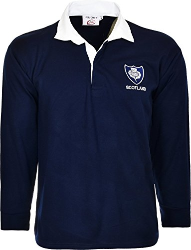Scotland Rugby Shirt Long Sleeved Jersey With Collars Classic Retro Top 6 nations size S T0 5XL