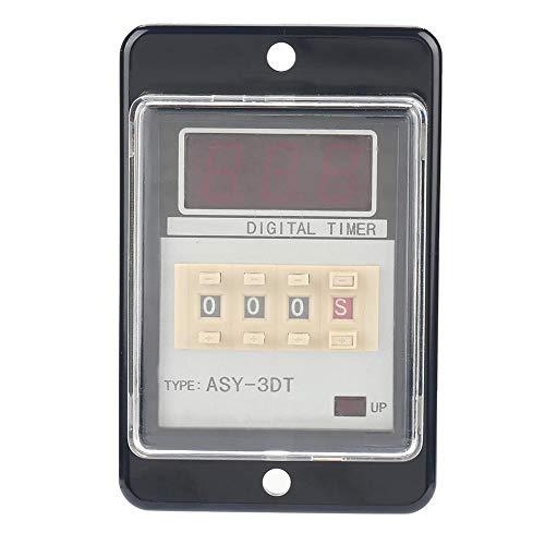 ASY-3DT-Relais, DC 24 V AC 110/220 V 0,01-999 5 A, flammhemmendes PVC Multifunktions-Zeitrelais für digitale LED-Anzeigen(110VAC) -