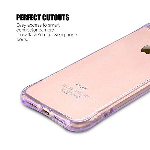 Coque iPhone 7 Plus (5.5 pouce) , TPU Transparente Case Silicone Slim Souple Étui de Protection Flexible Soft Cover Anti Choc Ultra Mince Couverture Bumper Anfire Housse pour iPhone 7 Plus - Rose Violet
