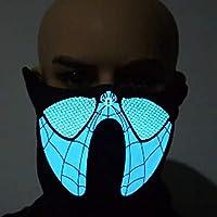 Mascara Halloween LED, Zolimx Luz Fría Máscara Terror Música Control Sonido Luz Fría Luminosa Máscara