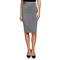 oodji Ultra Mujer Falda-Lápiz (Pack de 3), Gris, ES 38 / S