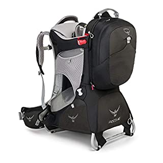Osprey Poco AG Premium Unisex Hiking Child Carrier Pack with 11L Detachable Daypack - Black (O/S)