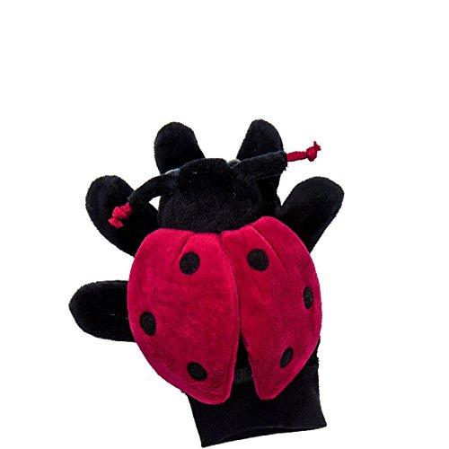 BUTLERS Wild Guys Handpuppe Marienkäfer - rot-schwarz - Polyester, Baumwolle, ABS, EVA - 14 x 9 x 9 cm (Schwarz Puppe Guy)