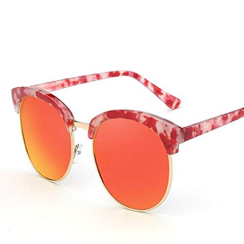 KISlink Sonnenbrille Koreanische Version der Marke Tide Sonnenbrille Damen-Sonnenbrille Brille Flut Rundgesicht Mann Jurte Spiegel Stern Sonnenbrille Brille (Farbe: B)