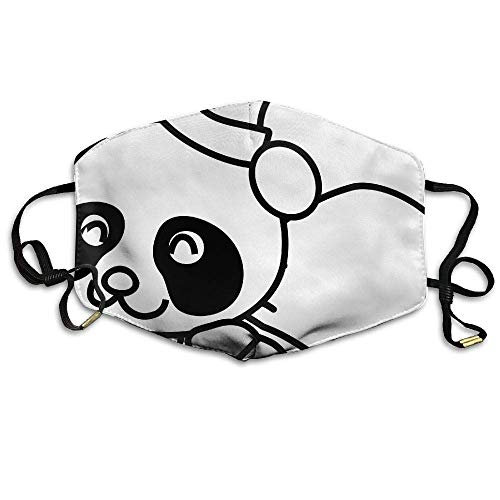 Daawqee Staubschutzmasken, Santa Panda Coloring Printed Mask Neutral Mask for Men and Women Polyester Dust-Proof Breathable Mask
