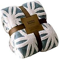 XDFCV Textiles,warmes Innenzubehör Winter Verdicken Warm Jacquard Coral Fleece Sofa Decke Schal Decke Cover Bein Kleine Decke