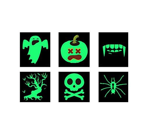Kostüme Halloween Cupcake Geburtstag (AMDXD Halloween Phosphoreszenz Aufkleber Gespenst Kürbis Vampir Zähne Totenkopf Baum des Lebens Spinne Halloween KostümHalloween)