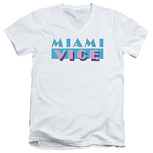 Miami Vice Logo Mens V-Neck