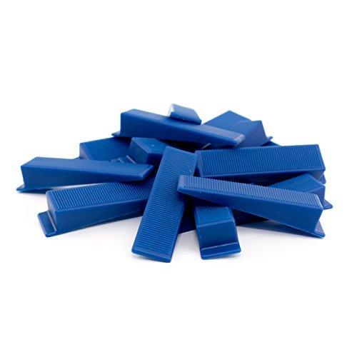100 Stück Lantelme 4834 Fliesen Nivelliersystem TOP Keile für Zuglaschen . Keil zur Boden Wandmontage - Nivelliersystem - Verlegesystem - Verlegehilfe