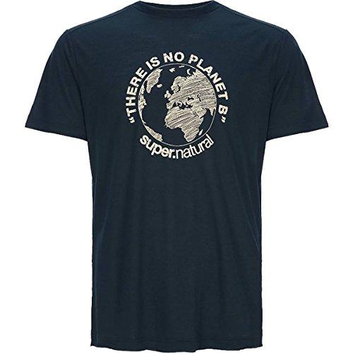 super.natural Herren M Graphic Tee Merino T-Shirt navy