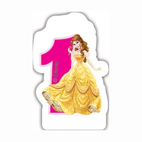 Unique Party Partido /Ênico Disney Princess y Animales Segundo cumplea/ños Vela