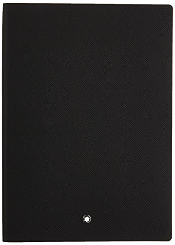 Montblanc Notebook 113294 Fine Stationery #146 Black / Elegant Soft Cover Journal / Lined Notebook with Leather Binding / A5