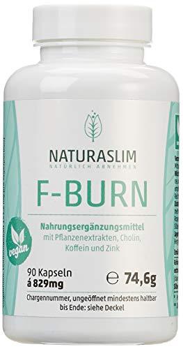 Natürlich Abnehmen | Fettverbrennung Ankurbeln |F-Burn | Geprüfte Qualität aus Deutschland | Kapseln hochdosiert | Naturaslim