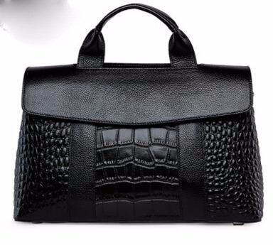 GUANGMING77 Messenger Borsa A Tracolla Borsetta _ Coccodrillo Borsetta Crossbody Bag Grande Spallamento,Grigio black