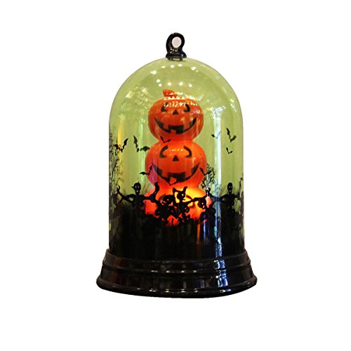 BESTOYARD Halloween Kürbis Tischlampe Tischplatte Licht Dekoration für Schlafzimmer Wohnzimmer Bar Club (Grün Kürbis Licht)