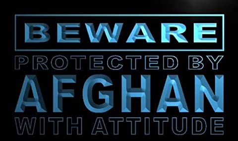 Enseigne Lumineuse m478-b Beware Afghan Neon Light Sign