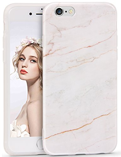 Imikoko iPhone 6/6s Marmor Hülle, Matt Weich Silikon Handyhülle Schlank TPU