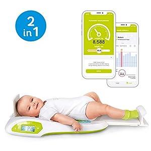 Wally Babywaage Baby Wage Kinderwaage – Smart Digitalwaage mit App AGU Elektronische Digitale
