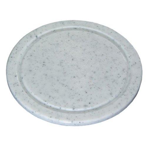 Kesper Fleischteller, Kunststoffteller, Servierteller, Küchenteller, aus Kunststoff, Höhe: 12 mm, Durchm.: 240 mm, grau