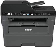 Brother MFCL2710DN Stampante Multifunzione Laser con Fax, Bianco e Nero, Velocità di Stampa 30 ppm, Scheda di Rete Cablata (no WiFi), Stampa Fronte/Retro automatica, ADF da 50 Fogli, Display LCD