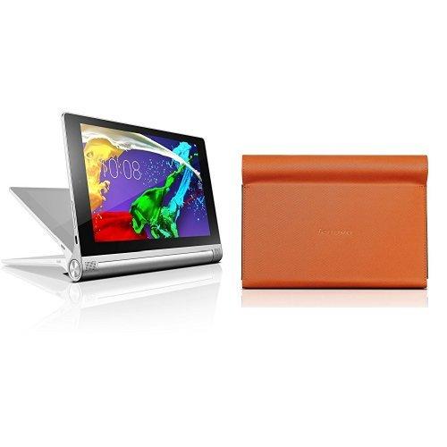 et 2-8 20,32 cm platinum + Lenovo Ultra Slim umklappbare Schutzhülle für Yoga Tablet (8 Zoll) inkl. Displayschutzfolie orange (Lenovo Platin)