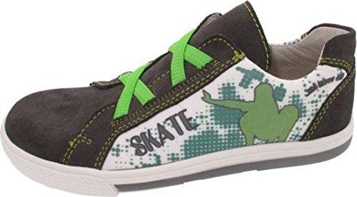Däumling Kinderschuhe, sportliche Schuhe, Sneaker, Lederschuhe anthrazit-grün (Turino asphalt)