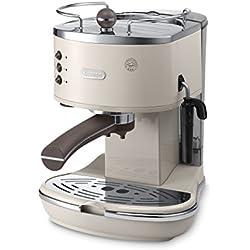 DeLonghi ECOV 311.BG Cafetera automática, 1100 W, 1.4 L, 15 bares, 2 tazas, acero inoxidable, beige