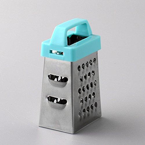 Kicode Diseño Mini 4 Sides Acero inoxidable multifunción Slicer de rallador de mano Para Frutas Vegetales...